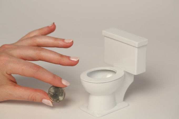 Props from the film: i.e. miniature toilet!