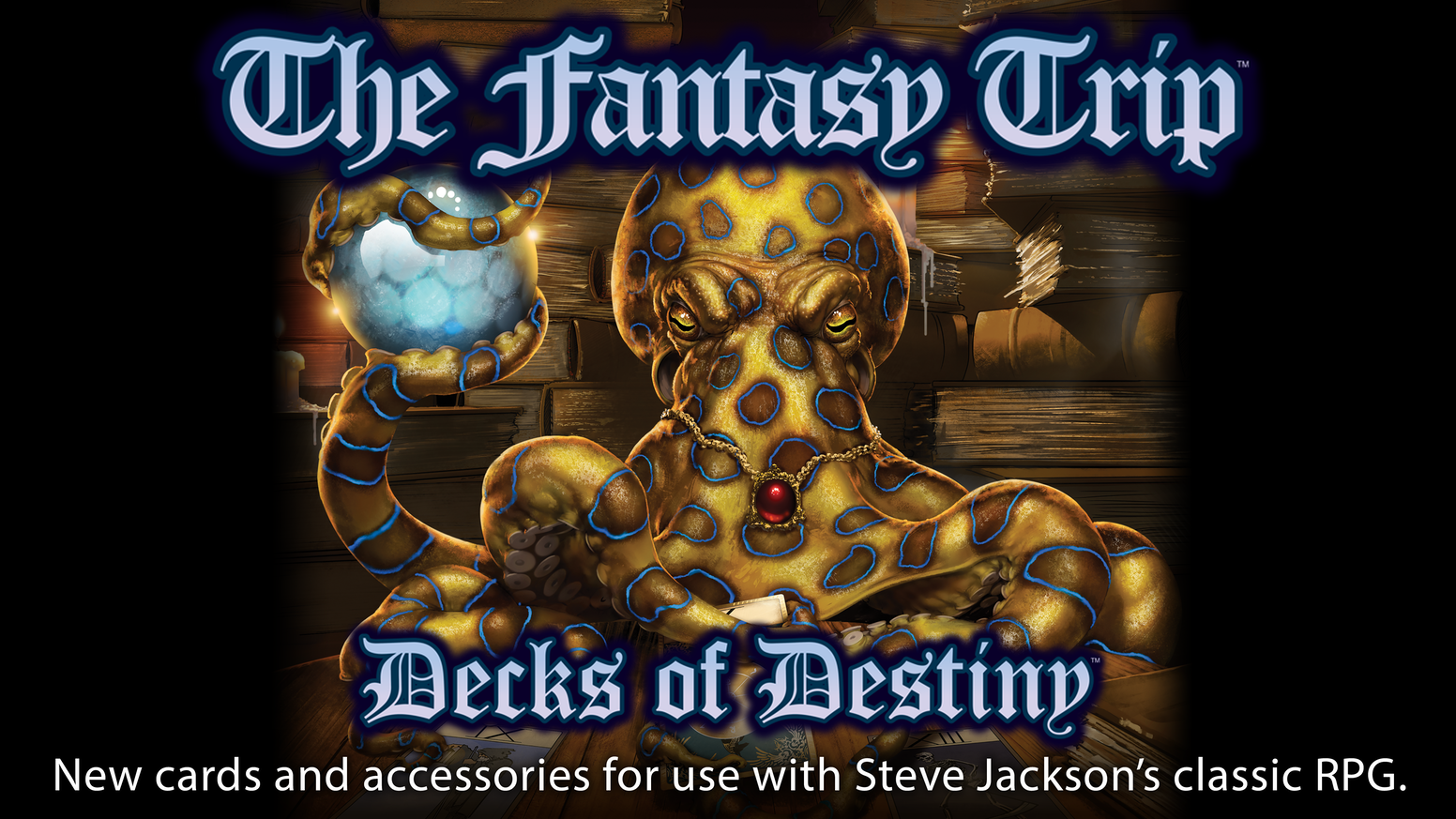 Many, many new cards and accessories for use with Steve Jackson's The Fantasy Trip roleplaying game!