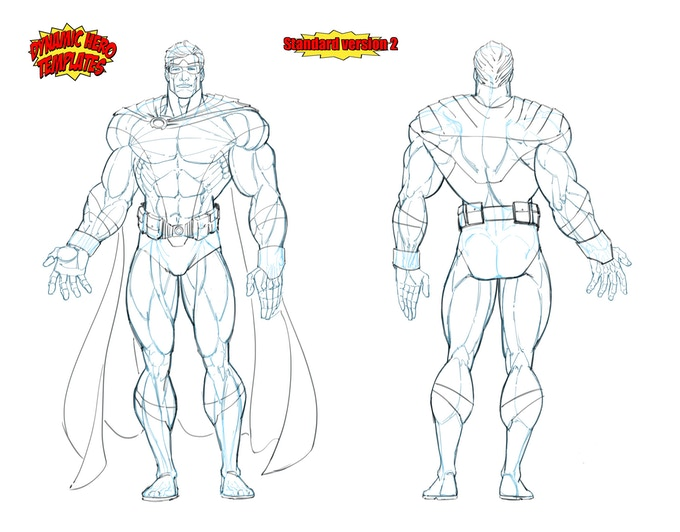 Love superheroes? Create your own and with the multiple templates in the book you could create your own super team!