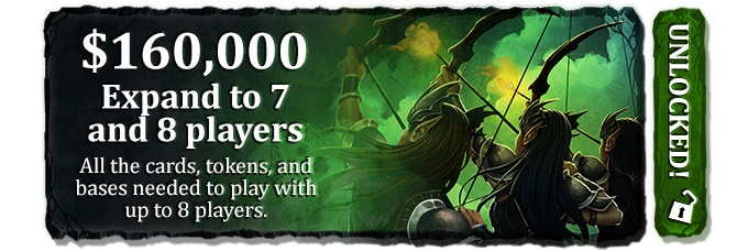 (additional starter cards, miniature bases, and token holders to support up to 8 players)