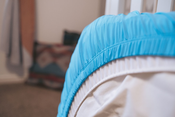 Non-Slip Elastic holds the sheet in place around the bottom of the mattress.