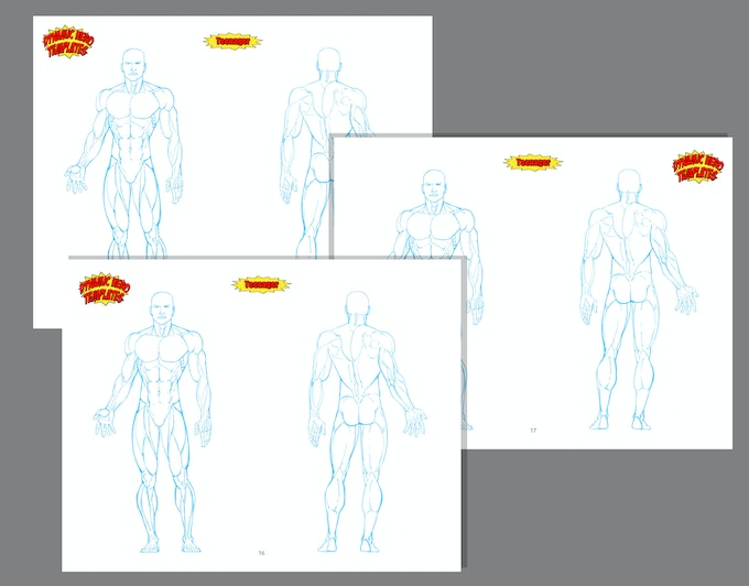 Each figure and head type has three pages devoted to them so you have many options for each one!