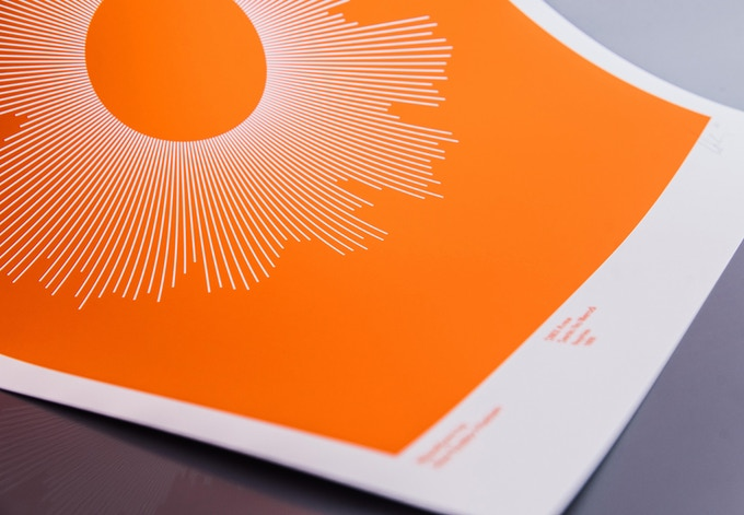SOLID — the Waveform is reversed out in white, surrounded by an imposing block of colour