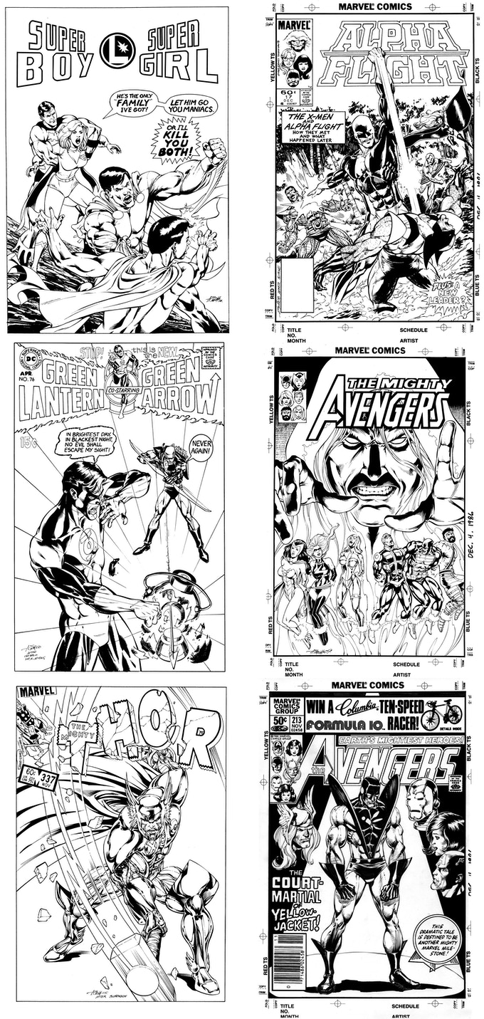 What?! You can own a cover recreation now of one of your all time favorite covers...drawn by me! You read that right, look at these awesome pieces I've done for other people...now you can own one too!