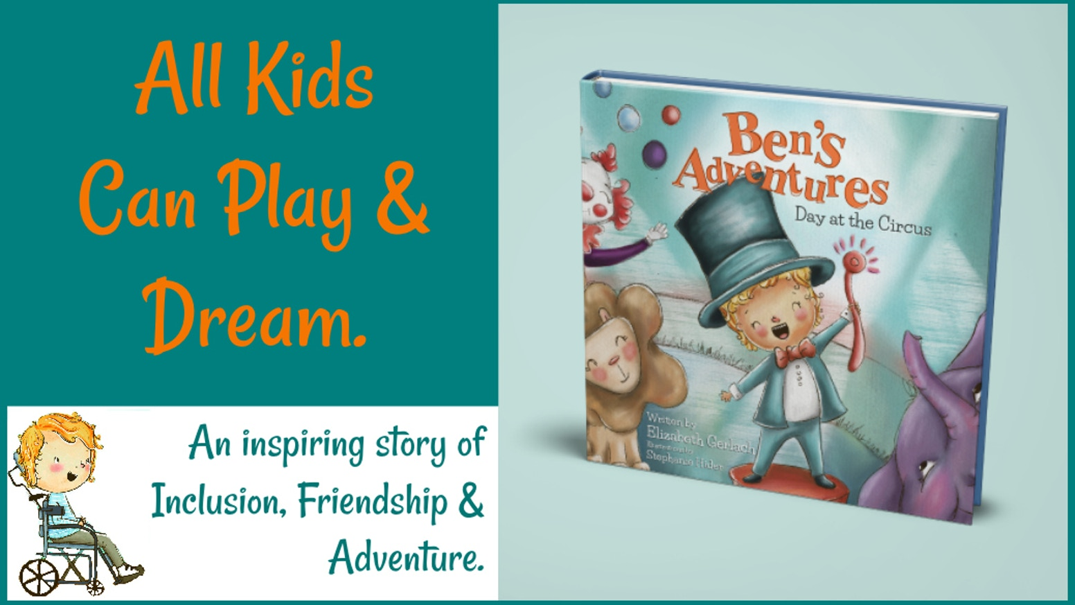 Check out this inspiring story of inclusion and dreams in Under The Big Top! Sweet Ben takes us to the circus in this second book in the Ben's Adventures series.Did you miss the Kickstarter but still want to learn more? Click below to preorder.