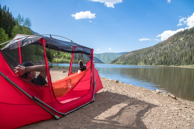 The Tammock is completely freestanding and allows you to hammock absolutely anywhere.