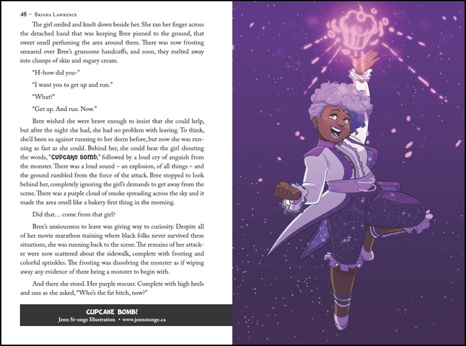 "Inside peak at the first book ""I Am Magical"" Art by Jenn St-Onge."