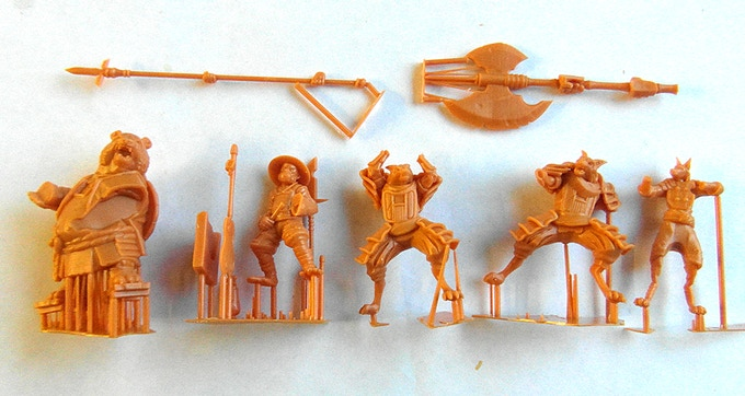 Prototype 3D printed masters