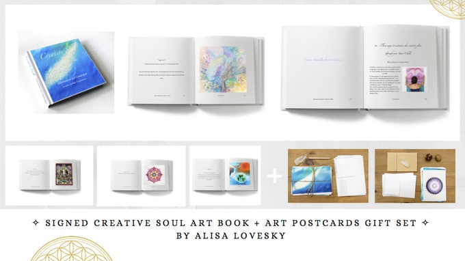 Pledge €100 & receive: Signed Creative Soul Art Book by Alisa LoveSky + Art Postcards Gift Set