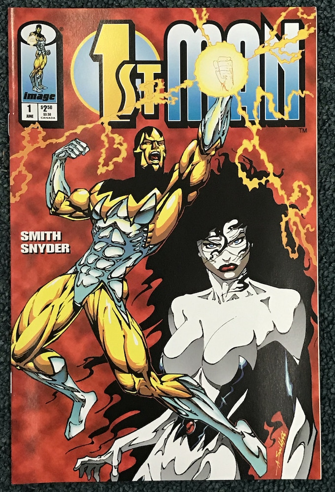 The iconic cover that introduced 1st Man to the world! It can be yours at this great deal of a pledge level!