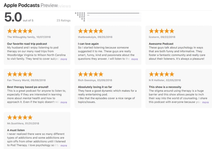 iTunes Reviews