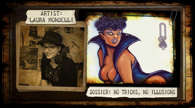 "Laura Mondelli, illustrator, comic and concept artist. She has worked on ""The Silence of Hollowind"" and several magazines such as: ""Il Lettore di Fantasia"", ""Cowboy From Hell"" and ""In Mass Media Res""."