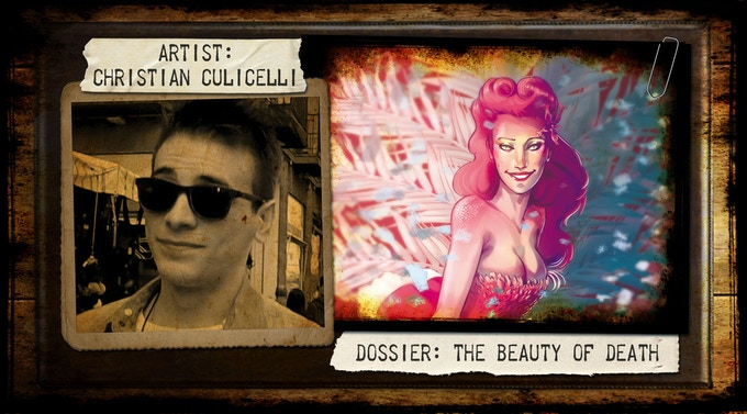 Christian Culicelli, an Italian artist who is currently collaborating with The Evil Company as well as several small publishing companies, such as Altered Comics. He also works for Kremin publishing.