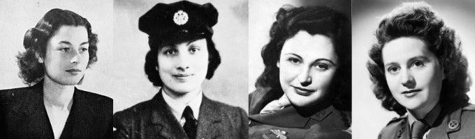 Violette Szabo, Noor Inayat Khan, Nancy Wake, Odette Sansom
