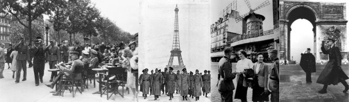 In occupied France, the German soldiers were everywhere