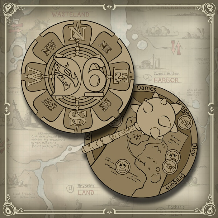 D6 Collector's Coins are $12 each