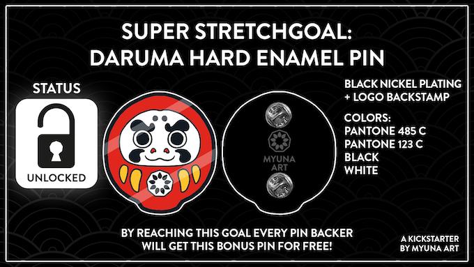 Super Strechgoal: Daruma Hard Enamel Pin (5.000€) (free bonus pin for every (!) pin backer)