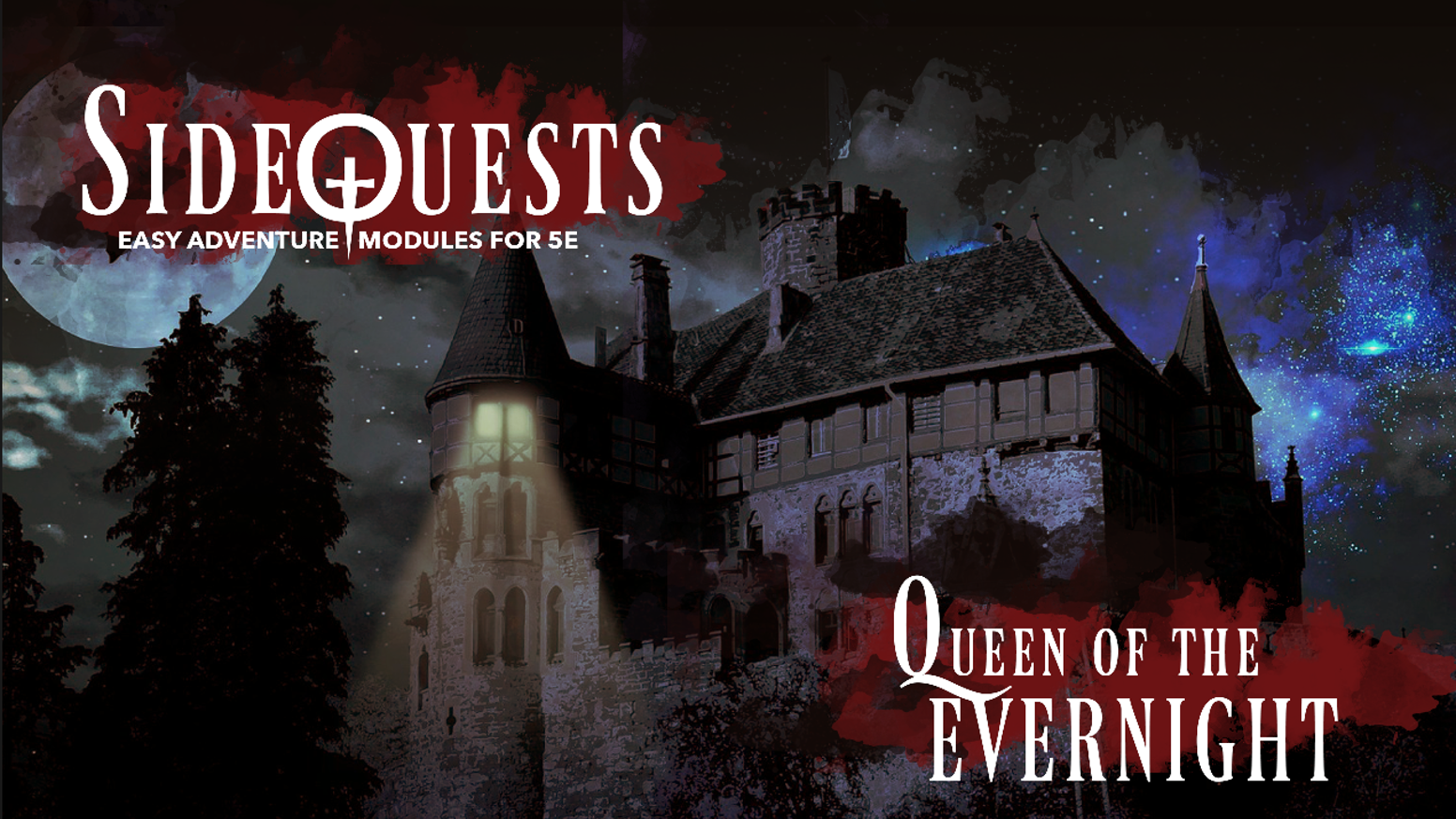 A brand new SideQuests Adventure for Fifth Edition Dungeons & Dragons, with elements of horror, mystery, and dark fantasy.
