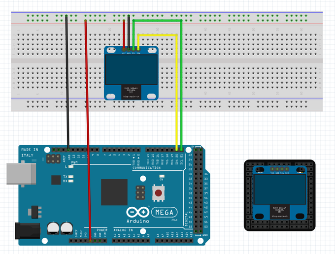 Do you need to display data and want to be like the cool kids that make everything visual? Or maybe you are planning the smalles videogame board based on ATMega2560? Just plug in an OLED display, directly! It can be combined with wifi as well, that fits right below it!