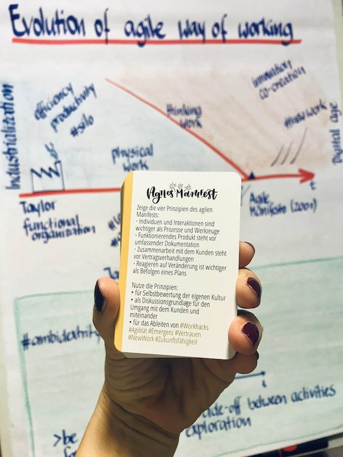 Using WonderCards in training when someone asks what #agility means...