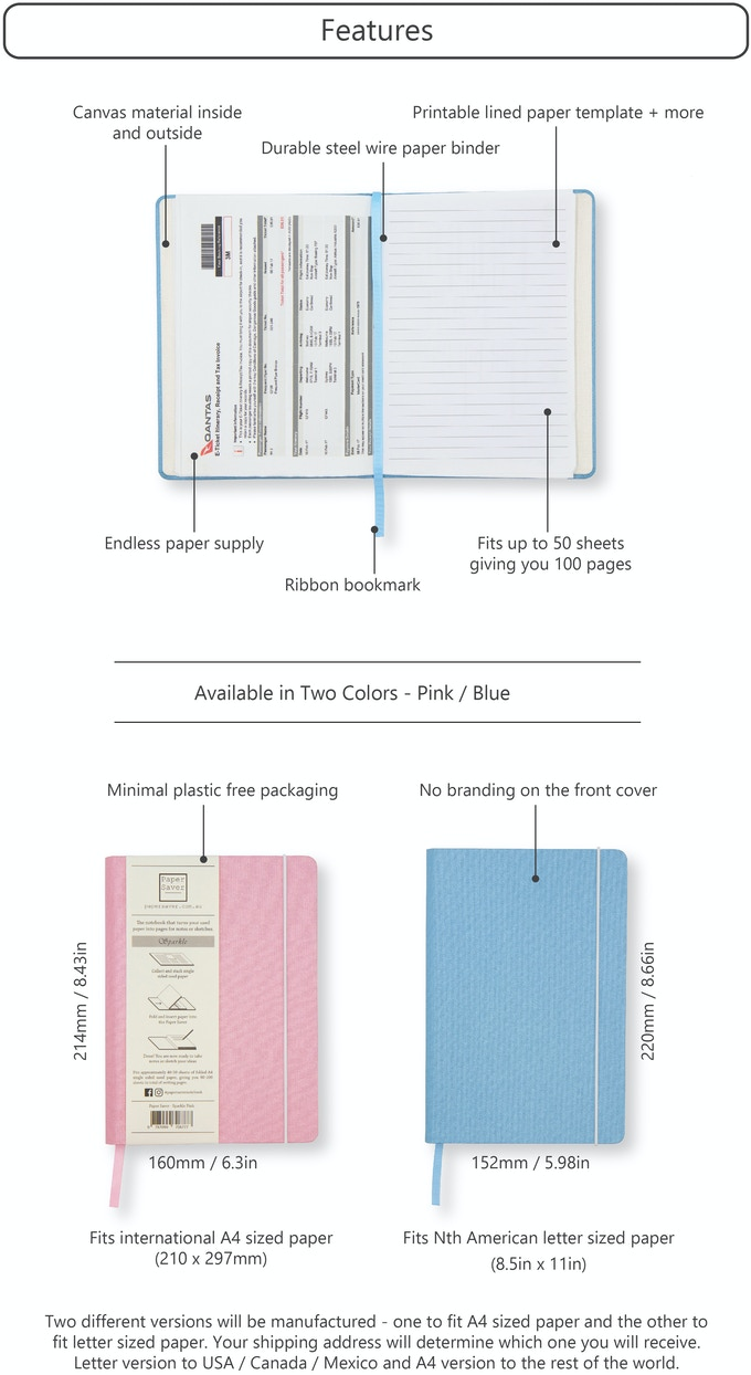 The Sparkle Paper Saver - The Zero Waste Notebook by Paper