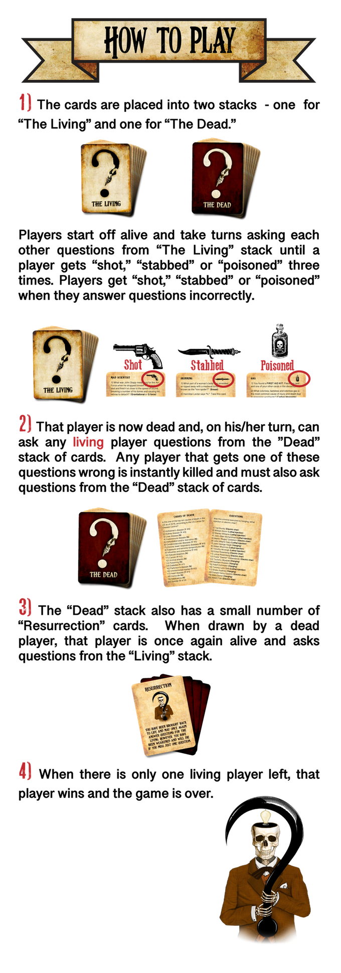 Death by Trivia: A Morbid Party Game by Headburst — Kickstarter