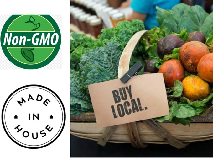 All Of Our Fresh Foods Are Locally Grown & NON GMO!!!!