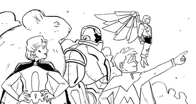 Icarus, Chastity, Repulsor, Algernon, Kid Midas... The Amenders!