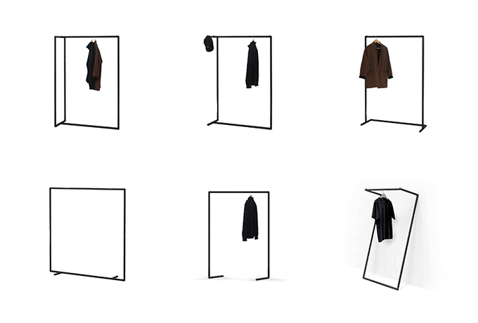 6-in-1 Garment Rack can be assembled into 6 different designs.