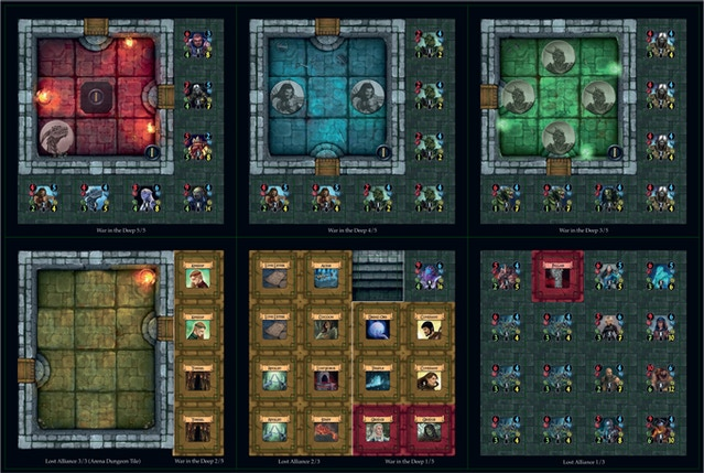 Dungeon Alliance (Second Printing + Expansions) by Quixotic Games