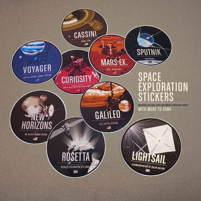 Historic Robotic Spacecraft Stickers