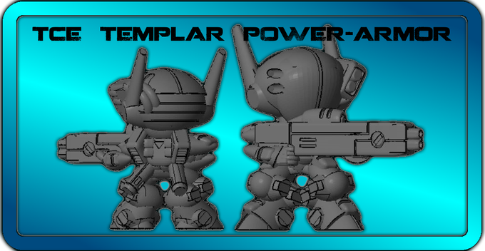 "INFINITE BACKERS ONLY !!   50mm TCE ""TEMPLAR"" PowerArmor"