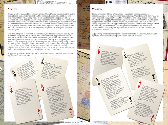 example of the planned page layout