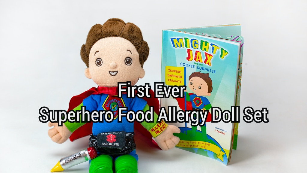First superhero book/doll set for kids with food allergies project video thumbnail