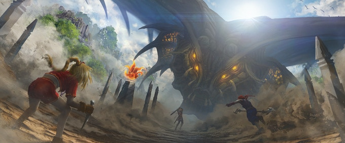 Track 14: Duel With the Dragon God - Physical Print: 28 X 12