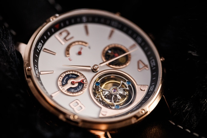 Rose Gold Case and White Dial