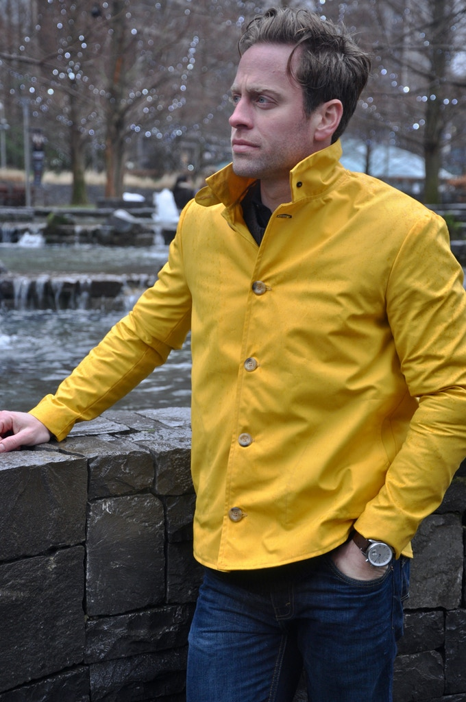 Waxed Yellow With Traditional Collar