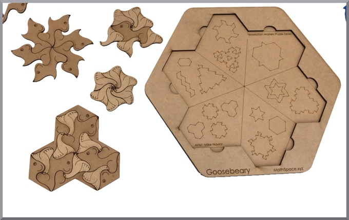 There's endless ways to make beautiful symmetric designs with these geese and bears!