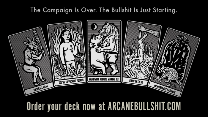 A super weird fortune-telling deck with over one hundred f*cked-up images. Now available for purchase!