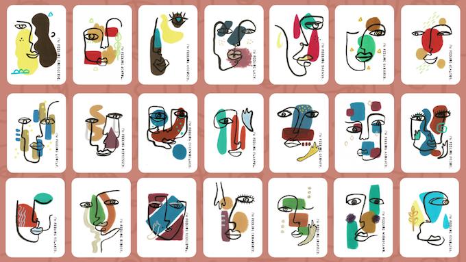 Each card representing an emotion.