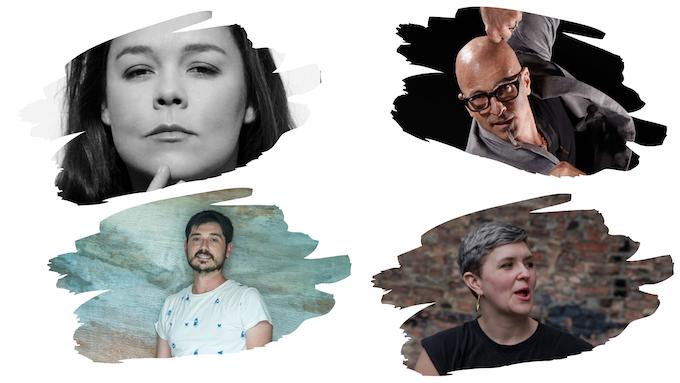 First column: Rocío Molina and Jon Maya Sein;  Second column: Stephen Petronio and Abby Zbikowski