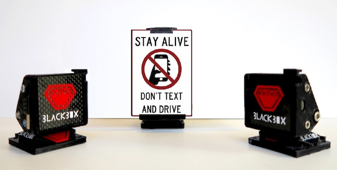 With this product, we want also to reduce traffic accidents because of phones!