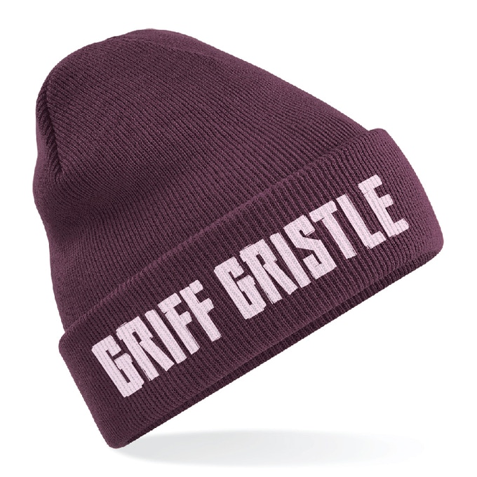 A mock up of the Griff Gristle beanie, may differ in final design.