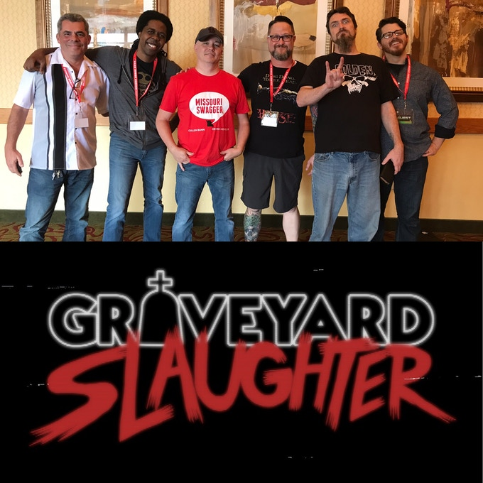 The Graveyard Slaughter Super Group...from left to right...Javier Saltares, Gary Bedell, Cullen Bunn, Kevin Watkins, Blacky Shepherd, Adam McLaughlin