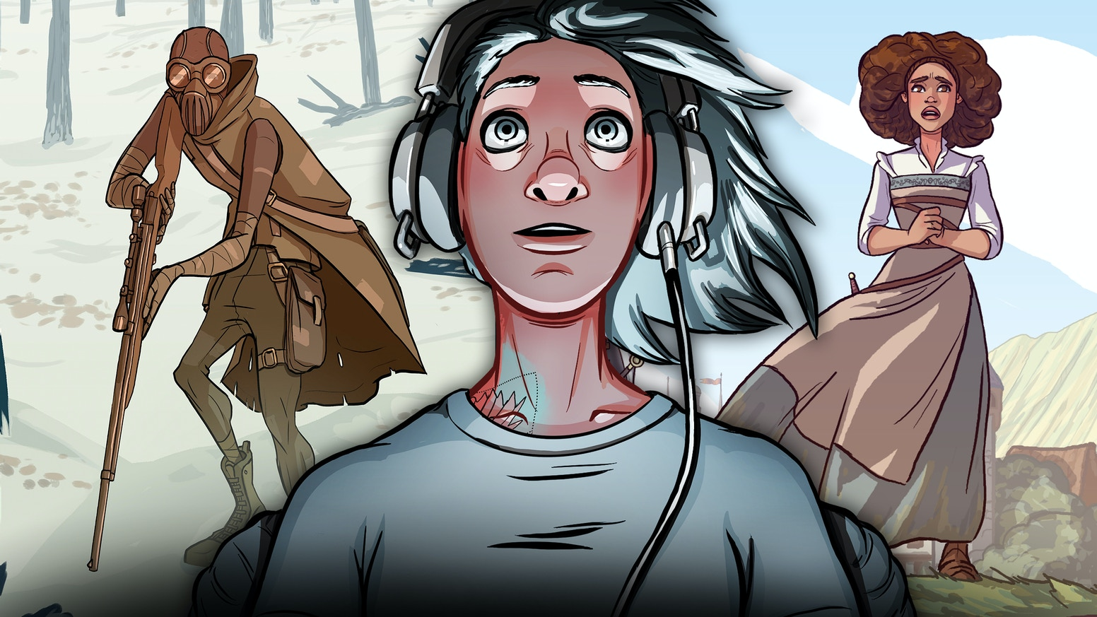 15 fantasy, sci-fi, and horror comics exploring what it means to be human.