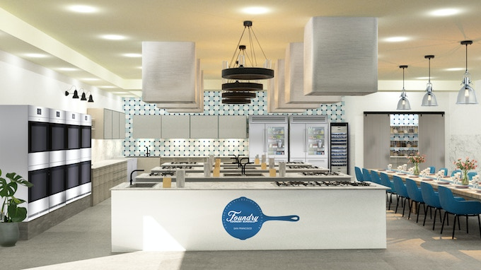 3D rendering image of what Foundry Cookery School will look like.