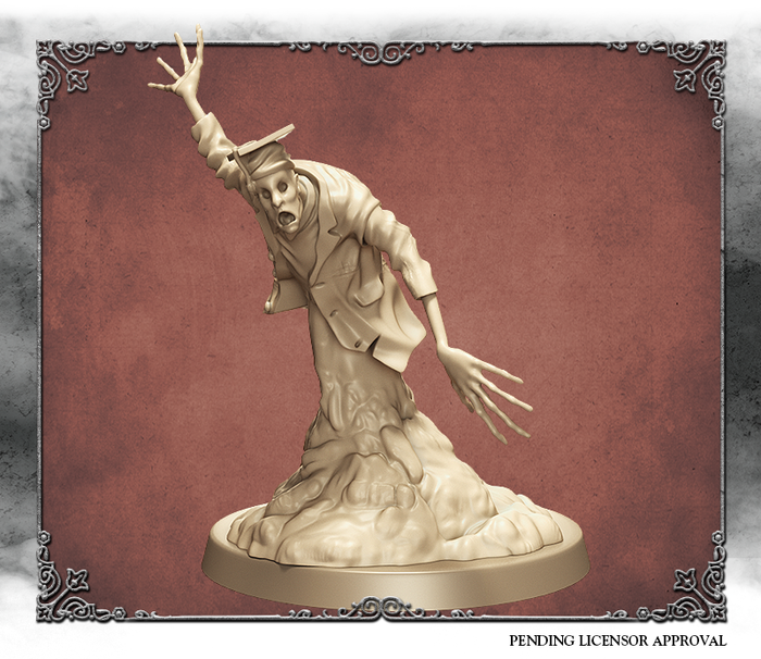 Ivory 3D render of the Scholar, front view.  Sculpted by Kévin Marks.