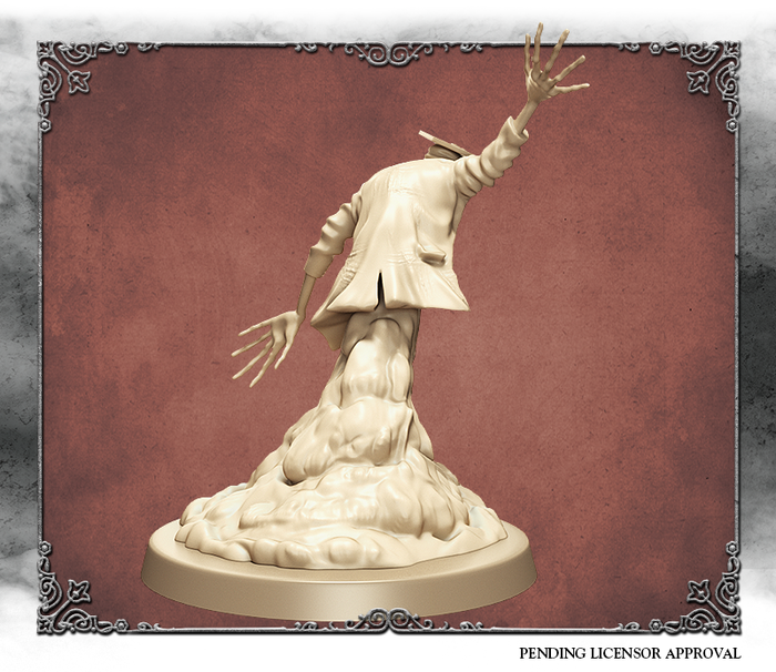 Ivory 3D render of the Scholar, back view.  Sculpted by Kévin Marks.
