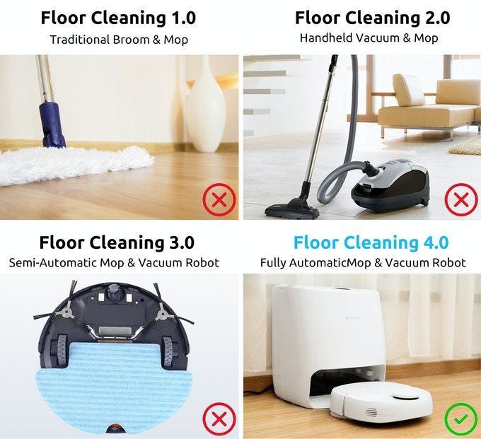 World S First Self Cleaning Robot Mop