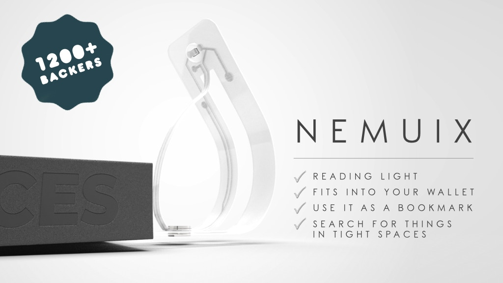 Nemuix. World's Thinnest Reading Light. project video thumbnail